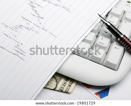 Business a theme - stock photo