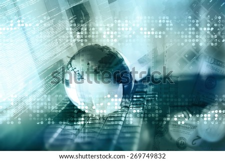 business abstract background - stock photo