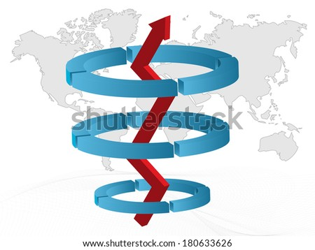 Business and Finance Concept with map of world