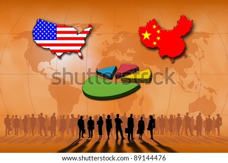 Business and finances between USA and China