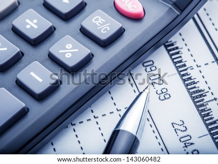 Business and financial concept - stock photo