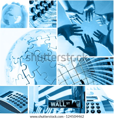business and global communication concept - stock photo