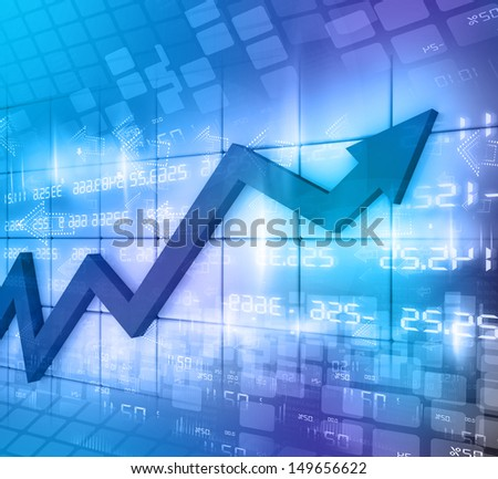 Business Arrow Graph abstract background  - stock photo