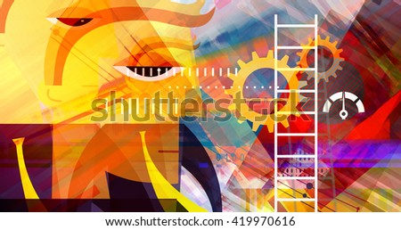 Business Aspirations Abstract - stock photo