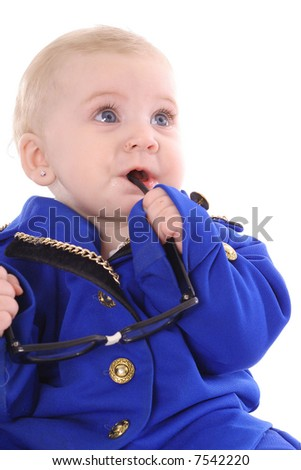 business baby executive - stock photo