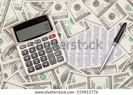 Business background - stock photo
