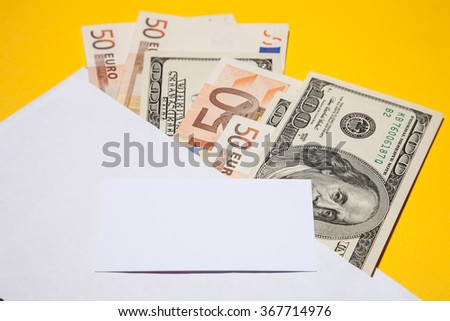 Business background - closeup shot - stock photo