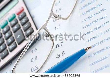 Business background, financial data concept - stock photo