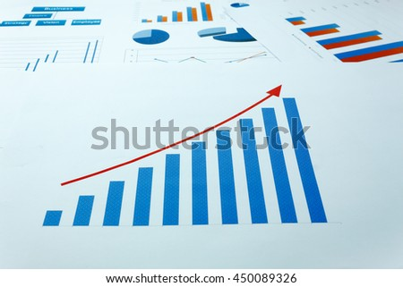 business background grown up concept the business chart document background.