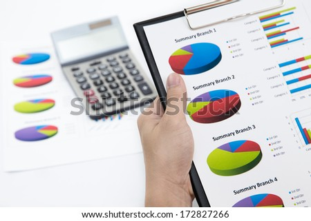 Business background, market analysis concept with financial