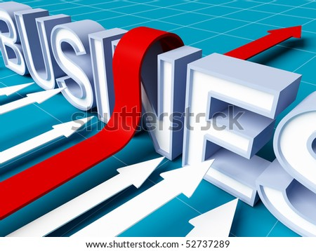 business background, smart arrow can pass obstacle - stock photo