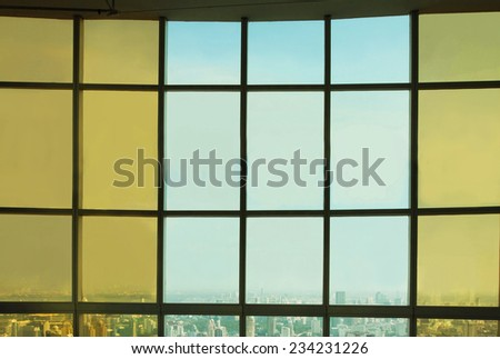 business background with panoramic view - stock photo