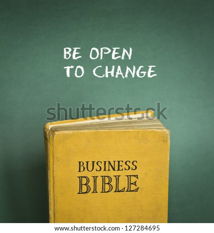 Business Bible commandment - Be open to change