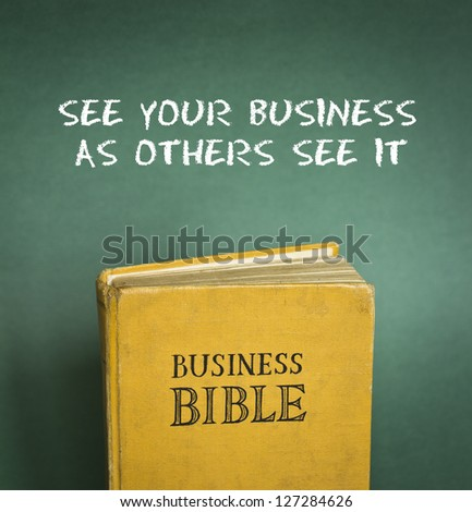Business Bible commandment - See your business as others see it - stock photo