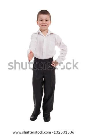 business boy isolated on white - stock photo