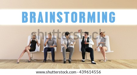 Business Brainstorming Being Discussed in a Group Meeting 3d Illustration Render - stock photo