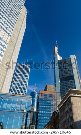 Business buildings in the center of Frankfurt, Germany