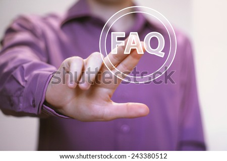 Business button FAQ connection icon web communication - stock photo