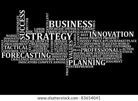 Business buzz words scrambled up for a background - stock photo