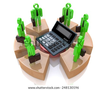 Business calculations  - stock photo