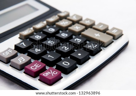 Business calculator on a white background