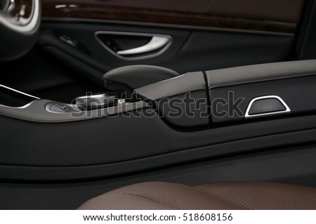 Business car interior background.