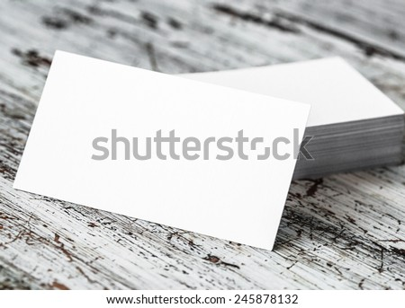 Business card blank  - stock photo