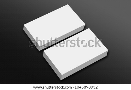 Business Card Blank Template Stock Illustration 1045898932