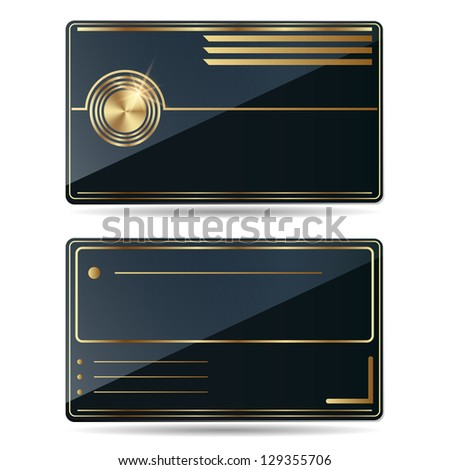 Business card icon. Raster version of vector illustration.