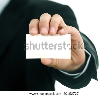 BUSINESS CARD IN MEN Hand