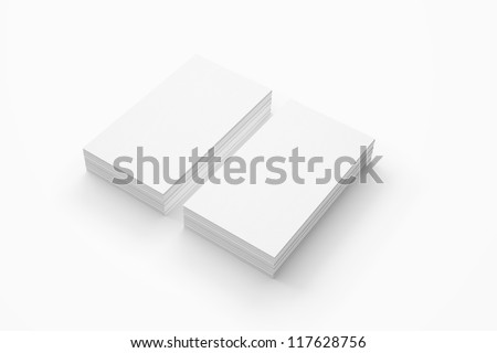 Business card isolated on white - stock photo