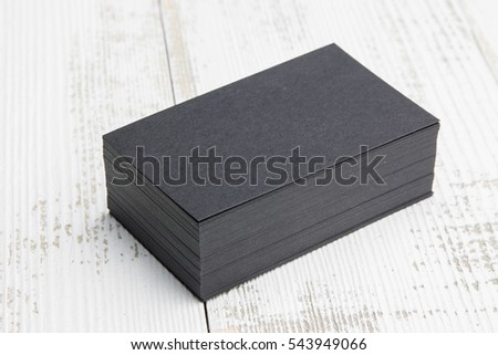 Business card on wood