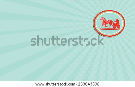 Business card showing illustration horse jockey stock illustration business card showing illustration of a horse and jockey harness racing set inside oval rosette shape colourmoves