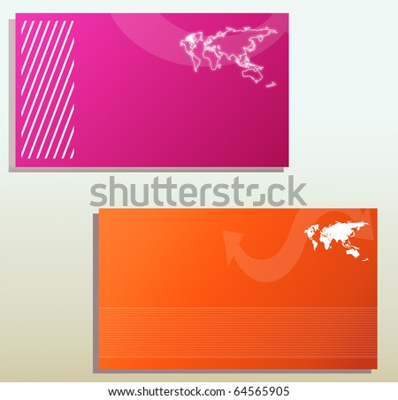 business card templates - stock photo