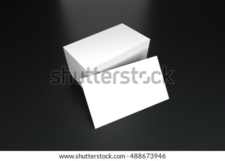 Business cards blank mockup - template, 3D illustration