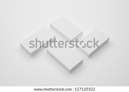 Business cards isolated on white - stock photo
