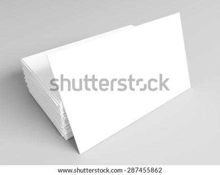 Business cards with soft shadow