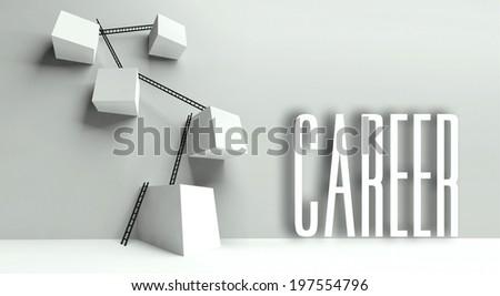 Business career metaphor, conceptual illustration - stock photo
