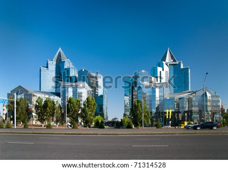 Business Center Nurly Tau in Almaty, Kazakhstan.
