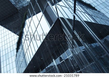 Business center of London close up - stock photo