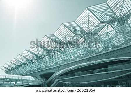 modern architecture buildings. business center of modern architecture building steel and glass buildings