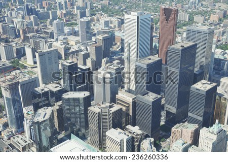 Business center of Toronto. Ontario. Canada. - stock photo