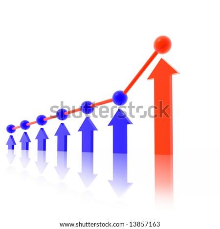 business chart - stock photo