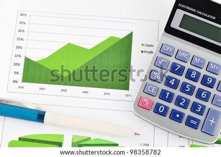 business chart market - stock photo