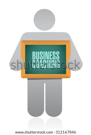 business coaching avatar sign concept illustration design graphic