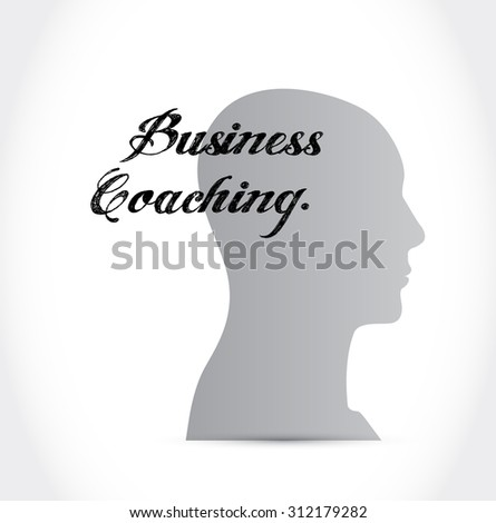 business coaching head sign concept illustration design graphic - stock photo