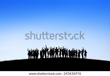 Business Collaboration Colleague Occupation Partnership Teamwork Concept - stock photo