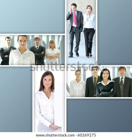 Business collage made of four nice pictures - stock photo
