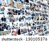 Business collage made of some business pictures - stock photo