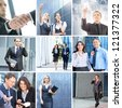 Business collage made of some different elements - stock photo